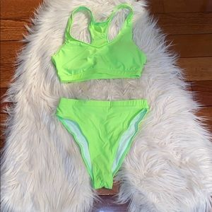 Matte Collection 2 piece high waist/leg bikini